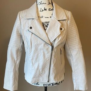 Cupcakes and Cashmere Faux Leather Jacket - size M